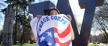 Peace Corps flag at the UW